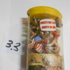 Figuras de Goma y PVC: ANTIGUO BOTE CON FIGURAS COMANSI NUEVO SIN USAR. Lote 201145887