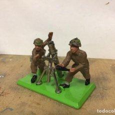 Figuras de Goma y PVC: MORTAR BRITAINS MORTERO BAZOCA MILITAR INGLES NO PECH COMANSI SOLDADOS MUNDO AMERICANO CASCOS AZULE. Lote 201173210