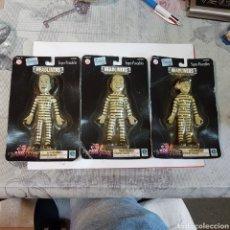 Figuras de Goma y PVC: COLECCIÓN DE LOS TRES CHIFLADOS. MUÑECOS DE GOMA EN BLISTER. Lote 201216343