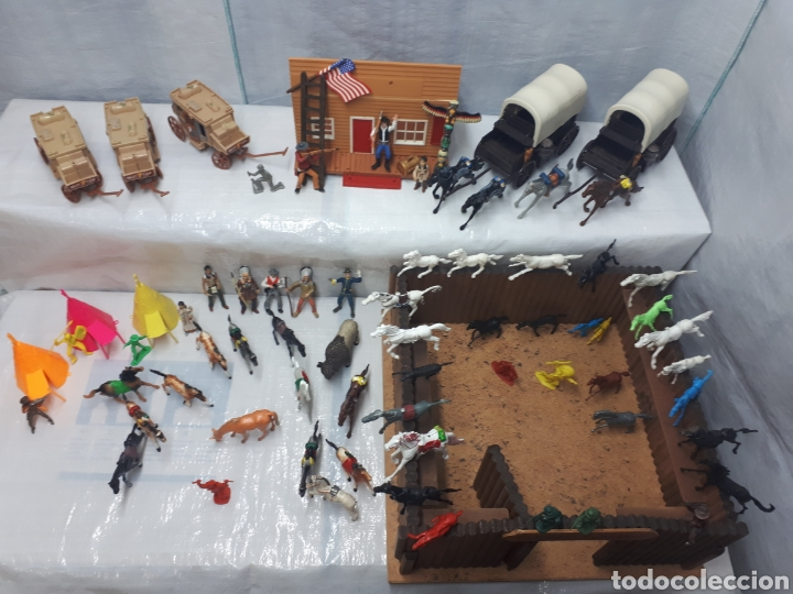 Figuras de Goma y PVC: FUERTE COMANSI DILIGENCIAS TIPYS CABALLOS Y FIGURAS - Foto 12 - 201322386