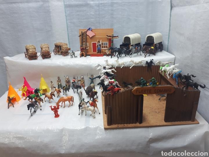 Figuras de Goma y PVC: FUERTE COMANSI DILIGENCIAS TIPYS CABALLOS Y FIGURAS - Foto 14 - 201322386
