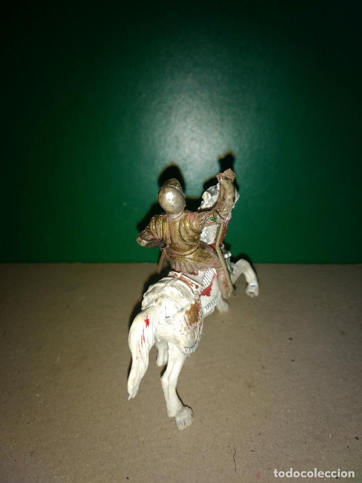 Figuras de Goma y PVC: REAMSA CABALLO PLASTICO y GUERRERO GOMA MEDIEVAL SERIE EL CID ORIGINAL 100% AÑOS 50-60 - Foto 3 - 201337800