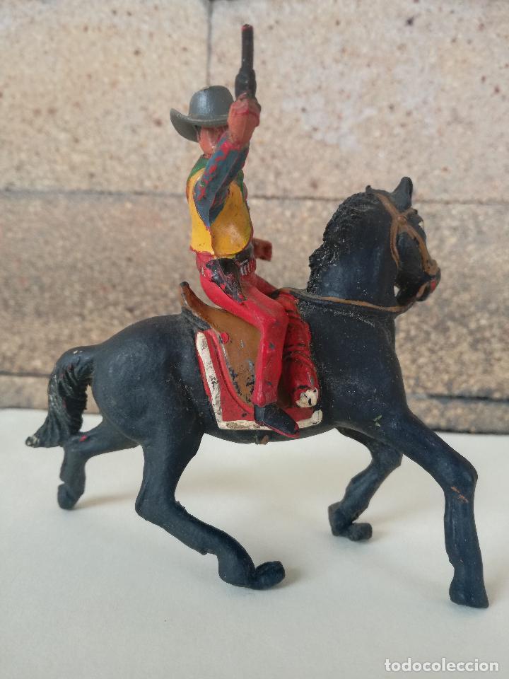 Figuras de Goma y PVC: ANTIGUO MUÑECO DE PLASTICO COWBOY CON CABALLO SOTORES TIPO ESTEREOPLAST PECH, JECSAN, REAMSA,LAFREDO - Foto 2 - 201521430