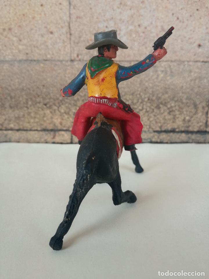 Figuras de Goma y PVC: ANTIGUO MUÑECO DE PLASTICO COWBOY CON CABALLO SOTORES TIPO ESTEREOPLAST PECH, JECSAN, REAMSA,LAFREDO - Foto 3 - 201521430