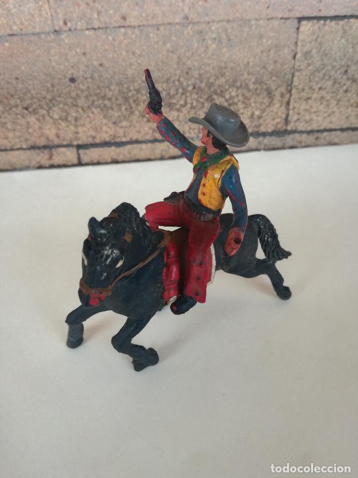 Figuras de Goma y PVC: ANTIGUO MUÑECO DE PLASTICO COWBOY CON CABALLO SOTORES TIPO ESTEREOPLAST PECH, JECSAN, REAMSA,LAFREDO - Foto 5 - 201521430