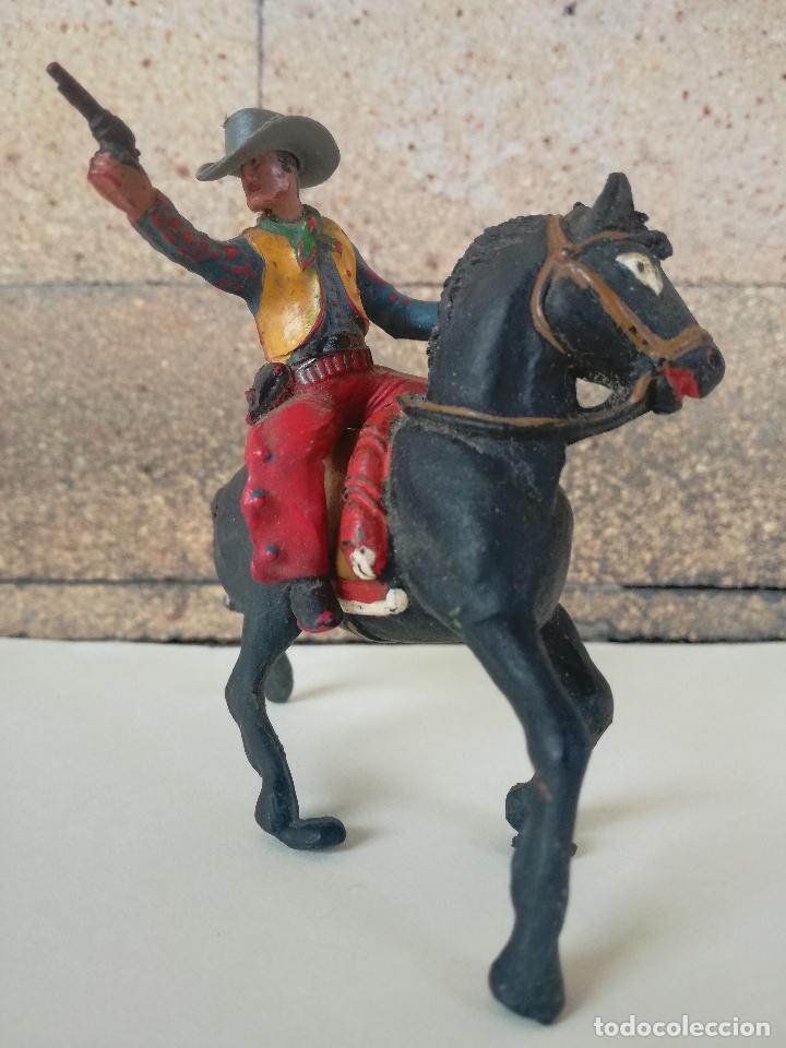 ANTIGUO MUÑECO DE PLASTICO COWBOY CON CABALLO SOTORES TIPO ESTEREOPLAST PECH, JECSAN, REAMSA,LAFREDO (Juguetes - Figuras de Goma y Pvc - Sotorres)