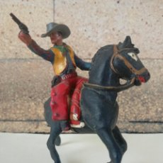Figuras de Goma y PVC: ANTIGUO MUÑECO DE PLASTICO COWBOY CON CABALLO SOTORES TIPO ESTEREOPLAST PECH, JECSAN, REAMSA,LAFREDO. Lote 201521430