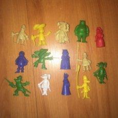 Figuras de Goma y PVC: 14 FIGURAS DINKIN COLECCION DARTACAN AÑOS 80 PORTUGAL. Lote 201749650