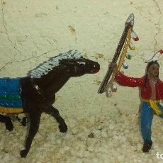 Figuras de Goma y PVC: INDIO Y CABALLO DE COMANSI PRIMERA EPOCA. Lote 202246636