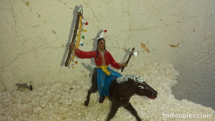 Figuras de Goma y PVC: Indio y caballo de comansi primera epoca - Foto 2 - 202246636
