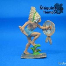 Figuras de Goma y PVC: FIGURA DE INDIO DE PECH HERMANOS. Nº1/4. AÑOS 70. FAR WEST (OESTE). INDIOS Y COWBOYS (VAQUEROS).. Lote 202278932