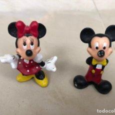 Figuras de Goma y PVC: PAREJA DE MUÑECOS DE GOMA MICKEY Y MINNIE. Lote 202652931