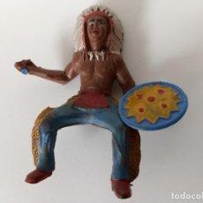 Figuras de Goma y PVC: FIGURA INDIO GOMA SOTORRES. Lote 202779526