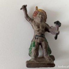 Figuras de Goma y PVC: FIGURA INDIO PECH GOMA. Lote 202779675