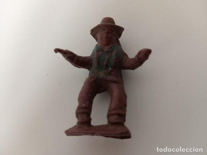 RARA FIGURA VAQUERO CAPELL GOMA (Juguetes - Figuras de Goma y Pvc - Teixido)