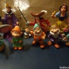 Figuras de Goma y PVC: LOTE FIGURAS DISNEY. BLANCANIEVES. GARFIO. DUMBO.. Lote 203003540