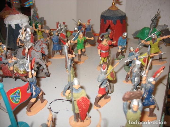 Figuras de Goma y PVC: gran lote de figuras medievales mas de 60 ¿REAMSA JECSAN ? - Foto 2 - 203295410