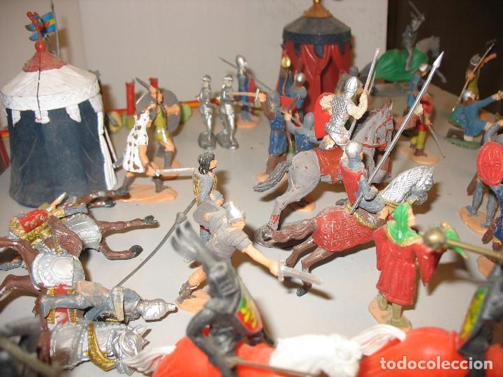 Figuras de Goma y PVC: gran lote de figuras medievales mas de 60 ¿REAMSA JECSAN ? - Foto 3 - 203295410