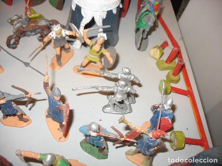 Figuras de Goma y PVC: gran lote de figuras medievales mas de 60 ¿REAMSA JECSAN ? - Foto 4 - 203295410