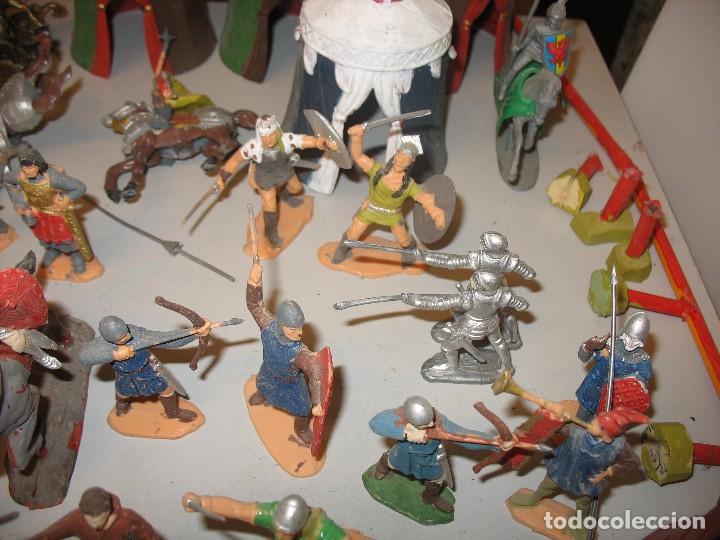 Figuras de Goma y PVC: gran lote de figuras medievales mas de 60 ¿REAMSA JECSAN ? - Foto 5 - 203295410
