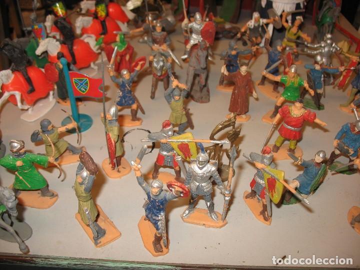 Figuras de Goma y PVC: gran lote de figuras medievales mas de 60 ¿REAMSA JECSAN ? - Foto 6 - 203295410