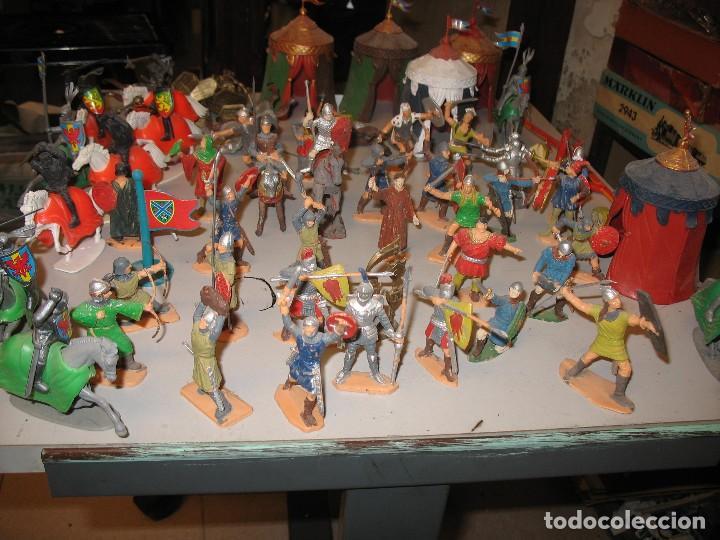 Figuras de Goma y PVC: gran lote de figuras medievales mas de 60 ¿REAMSA JECSAN ? - Foto 7 - 203295410