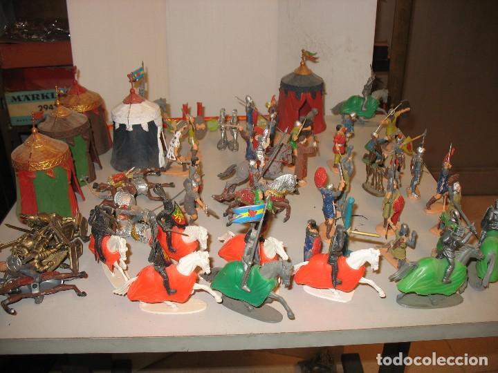 Figuras de Goma y PVC: gran lote de figuras medievales mas de 60 ¿REAMSA JECSAN ? - Foto 9 - 203295410