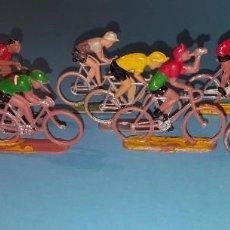 Figuras de Goma y PVC: CICLISTAS PLASTICO DURO - SOTORRES -VUELTA CICLISTA - 10 FIGURAS. Lote 203439438