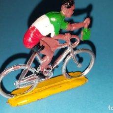 Figuras de Goma y PVC: CICLISTA - PLASTICO - SOTORRES - VUELTA CICLISTA. Lote 203439605