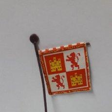 Figuras de Borracha e PVC: ESTANDARTE CRISTIANO - CRUZADOS . REALIZADO POR REAMSA . ORIGINAL AÑOS 60. Lote 203505978