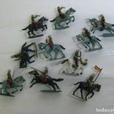 Figuras de Borracha e PVC: TORRES MALTA - SOTORRES - LOTE DE 10 SOLDADOS DE CABALLERIA EJERCITO ESPAÑOL. Lote 203560440