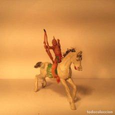 Figuras de Borracha e PVC: FIGURA INDIO A CABALLO EN PLASTICO DE JECSAN 232. Lote 203588240