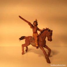 Figuras de Borracha e PVC: FIGURA INDIO A CABALLO EN PLASTICO DE JECSAN 234. Lote 203588703