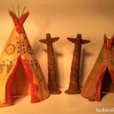 Figuras de Borracha e PVC: TIPYS Y TOTEMS INDIOS ACCESORIOS OESTE EN PLASTICO DE JECSAN 241. Lote 203589308
