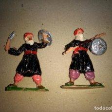 Figuras de Goma y PVC: LOTE 2 FIGURAS AÑOS 60 SERIE MIO CID REAMSA ARABES CRISTIANOS MEDIEVALES MOROS. Lote 203625771