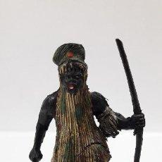 Figuras de Goma y PVC: GUERRERO - BRUJO AFRICANO KAKUANA . REALIZADO POR PECH . AÑOS 50 EN GOMA. Lote 203796672