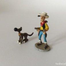 Figuras de Goma y PVC: FIGURAS LUCKY LUKE , RANTANPLAN. Lote 203910076