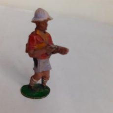 Figuras de Goma y PVC: FIGURA LAFREDO CAZADOR AFRICA MISTERIOSA GOMA. Lote 203976970