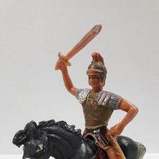 Figuras de Goma y PVC: LEGIONARIO ROMANO A CABALLO . REALIZADO POR JECSAN . ORIGINAL AÑOS 60. Lote 204007628