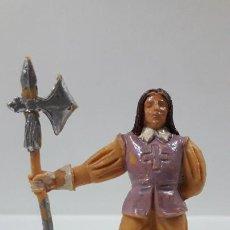 Figuras de Goma y PVC: ALABARDERO - GUARDIA DE PUERTA . REALIZADO POR JECSAN . ORIGINAL AÑOS 60. Lote 204011130