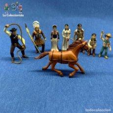 Figuras de Goma y PVC: LOTE 8 FIGURAS COMANSI CMS 12 - ALDEA INDIA - CABALLO - OESTE - ENTRE 6 CM Y 8 CM. Lote 204065445
