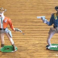 Figuras de Goma y PVC: 2 VAQUEROS DE COMANSI. Lote 204160673