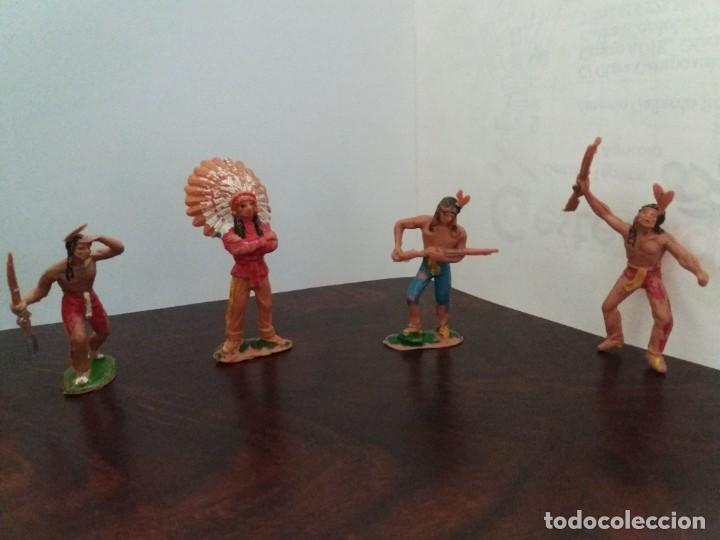 Figuras de Goma y PVC: LOTE 4 FIGURAS INDIOS JECSAN. AÑOS 60/70. - Foto 2 - 204168507