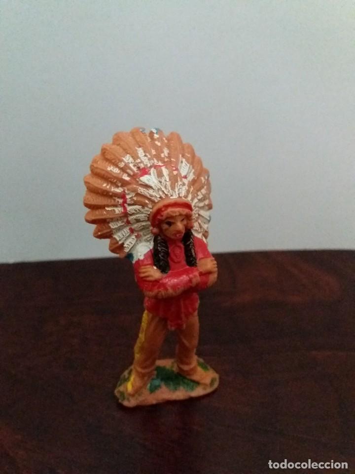 Figuras de Goma y PVC: LOTE 4 FIGURAS INDIOS JECSAN. AÑOS 60/70. - Foto 3 - 204168507
