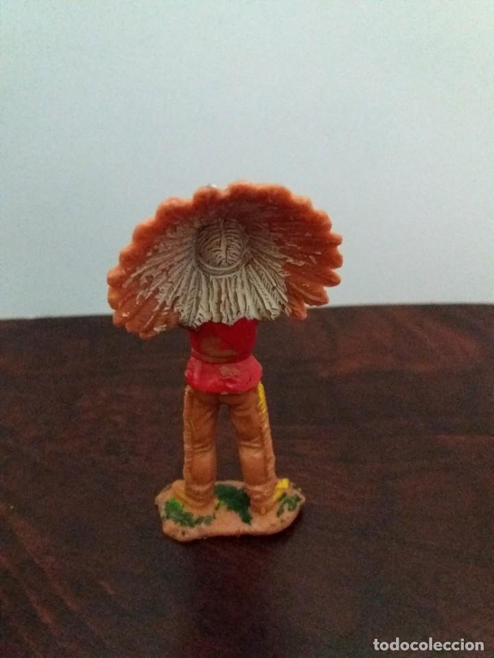 Figuras de Goma y PVC: LOTE 4 FIGURAS INDIOS JECSAN. AÑOS 60/70. - Foto 4 - 204168507