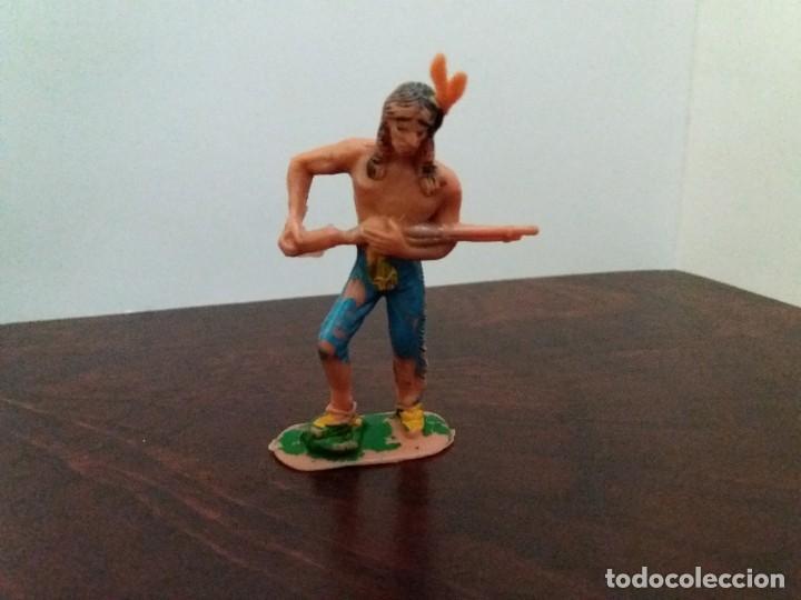 Figuras de Goma y PVC: LOTE 4 FIGURAS INDIOS JECSAN. AÑOS 60/70. - Foto 5 - 204168507