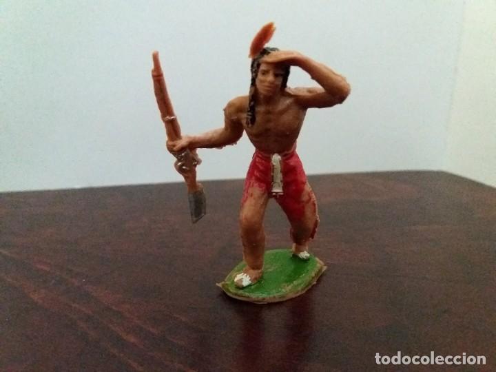 Figuras de Goma y PVC: LOTE 4 FIGURAS INDIOS JECSAN. AÑOS 60/70. - Foto 7 - 204168507
