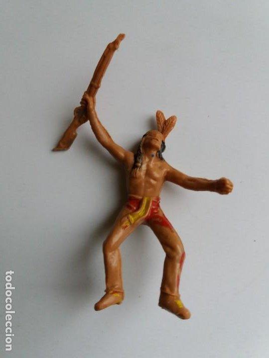 Figuras de Goma y PVC: LOTE 4 FIGURAS INDIOS JECSAN. AÑOS 60/70. - Foto 9 - 204168507
