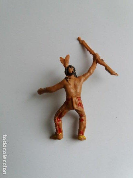 Figuras de Goma y PVC: LOTE 4 FIGURAS INDIOS JECSAN. AÑOS 60/70. - Foto 10 - 204168507