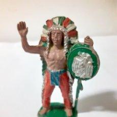 Figuras de Goma y PVC: FIGURA JEFE INDIO GOMA,JECSAN,LAFREDO,PECH,REAMSA. Lote 204188366